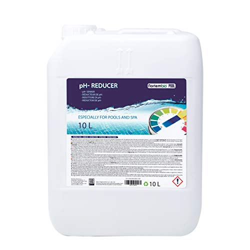 Nortembio Pool pH- Minus 10 L, Reductor pH Natural para Piscina y SPA. Mejora la Calidad del Agua, Regulador pH, Beneficioso para la Salud.