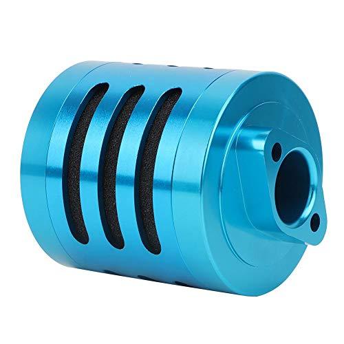 Dilwe RC Luftfilter, Metall Fernbedienung Modellauto Luftfilter für 1: 5 HPI Baja KM Rovan AF-T RC Auto Upgrade Teil Blau / Silber(Blau)