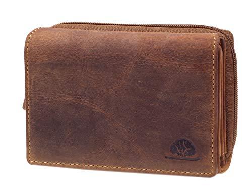 Greenburry portemonnee dames leder RFID bruin portemonnee vintage