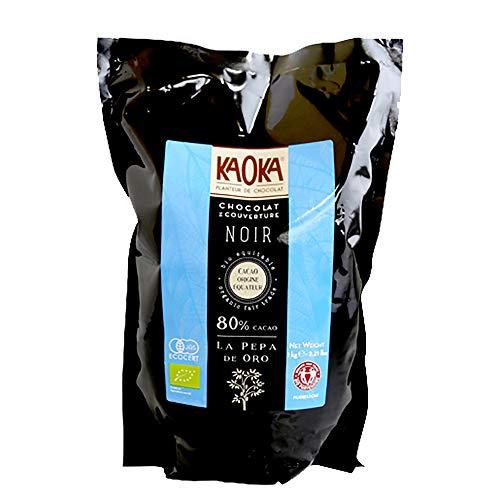 【業務用 製菓用】KAOKA (カオカ) ペパデオーロ カカオ80% 1kg オーガニックチョコレート 製菓用チョコレート