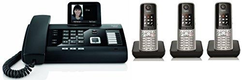 Siemens Gigaset DL500A SET mit 3x S810H Mobilteil - analog, Anrufbeantworter, Bluetooth® ECO DECT, schwarz