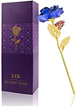 Lavanya Silver - 24k Golden and Rose with Box (30 X 10 X 8 cm, Blue)