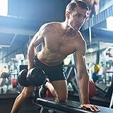 Movit® Hantelbank mit Verstellbarer Langhantelablage und Dip-Station, faltbar, schwarz, Heim-Trainingsgerät Home-Gym Kraftstation