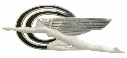 Außergewöhnliche Art Deco Brosche Kuehlerfigur Speed 925 Silber