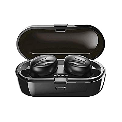 Wireless earphones, Bluetooth 5.0 Stereo Headphones True Wireless in-Ear Earbuds IPX5 Waterproof with Smart LCD Digital Display Charging Case,Sports Earbuds for Workout-A56 by Soding