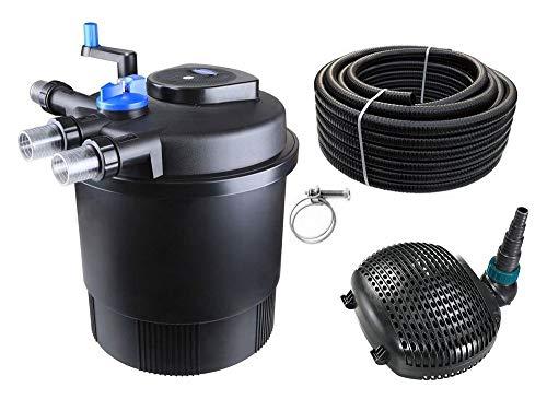 AquaOne Teich Filteranlage Set Nr.22 CPF 20000 Druckfilter 38W Eco Teichpumpe Teichgröße bis 40000l Teichschlauch Bachlauf UV Lampe