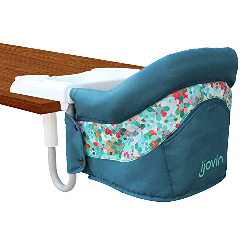 Hook On High Chair, Fast Clip-on Table High Chair with Dining Tray for Babies and Toddlers, Portable Feeding Seat for Home and Travel(Green)