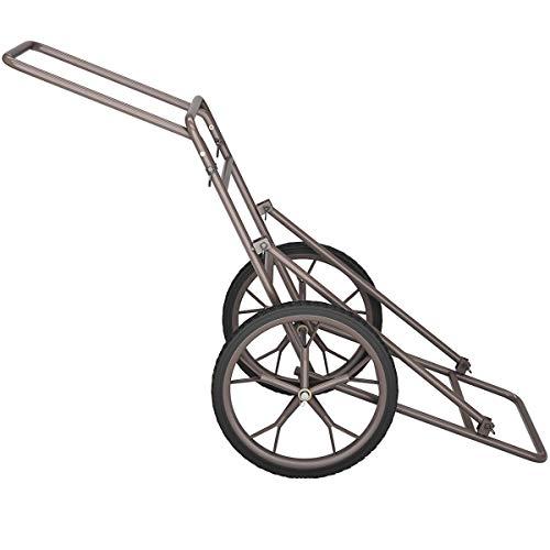 LDAILY Moccha 500lbs Capacity Folding Deer Game Hauler Cart with Big Wheels, Utility Gear Dolly Cart, Heavy-Duty Steel Deer Game Cart, Hunting Accessories
