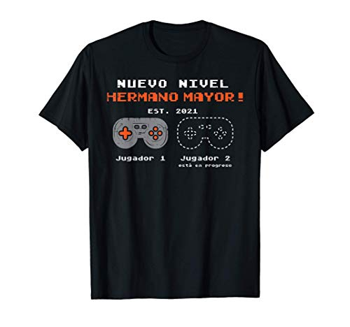 Futuro Nivel Hermano Mayor 2021 Anuncio Embarazo Game Regalo Camiseta