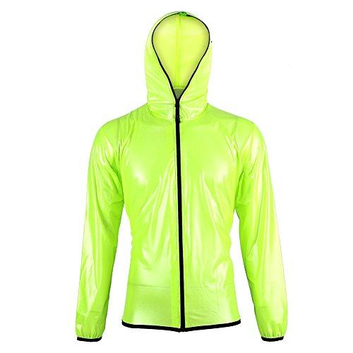 Semme Green Draagbare Fietsregen Poncho, Lichtgewicht, Herbruikbare Unisex Waterdichte Capes voor Wandelen, Outdoor Camping(Jacket+Trousers)