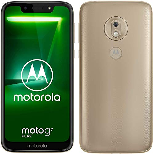 motorola Moto g7 Play 5.7-Inch Android 9.0 Pie SIM-Free Smartphone with 2GB RAM and 32GB Storage (Dual SIM) – Gold