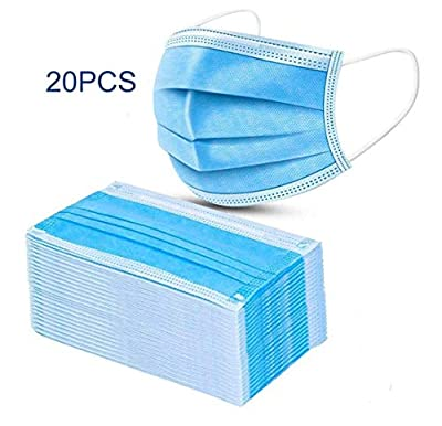 20 Pieces/50 Pieces/100 Pieces Disposable 3 Layers Anti-dust Protective Face Cover