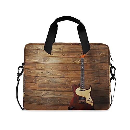 Maletín portátil de madera para guitarra eléctrica de 15.6 a 14 a...