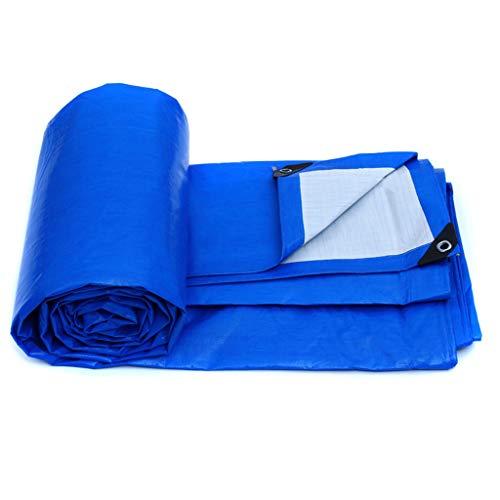 Qjifangfsh Tarpaulin regenbescherming voor buiten, voor vrachtwagen, blauw + wit 3m*2m