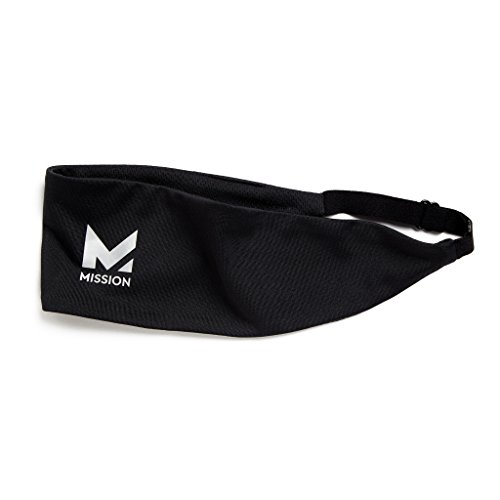 Mission VaporActive Cooling Lockdown Headband, Jet Black Solid, One Size
