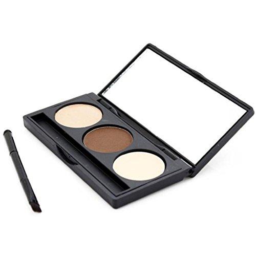 OVERMAL Poudre CosméTique Sourcils Trousse Maquillage L'Oeil Front Palette Pinceau Miroir