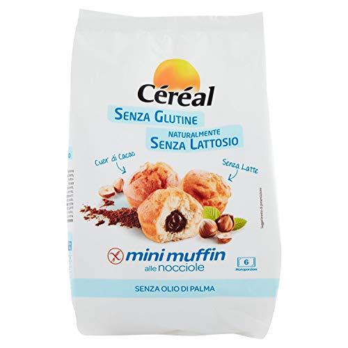 Céréal Mini Muffin alle Nocciole, merendine senza glutine e lattosio, cupcakes, dolci senza glutine - 6 cupcakes, 180 g