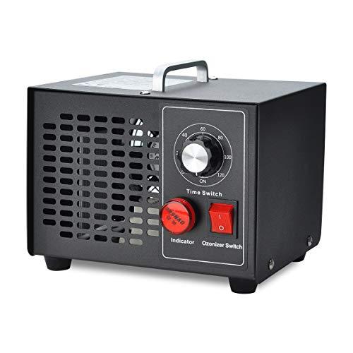 COVVY Generador de ozono comercial,esterilizador de purificador de aire móvil Ozone Machine O3, para el hogar,cocina,oficina,hotel,automóvil,barco,restaurante,tienda (3500mg/h)