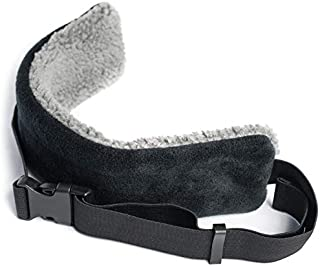 The ORIGINAL SeatSleeper Travel Head Support Pillow – Straps to Headrest So You Can Get Good Sleep on a Plane & Stay Upright – Cozy, Small, Black/Gray, Adjustable, for Flight & Car Sleeping