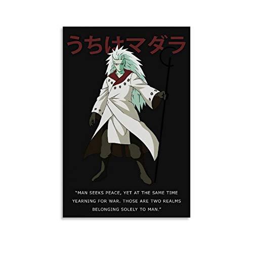 Naruto Madara Uchiha Anime Poster Quote Art Decoration
