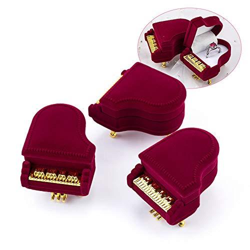 FSQY 1 stück einzigartige Klavier Samt Schmuck Box Hochzeit Ring Box Geschenk Box Halfter Schmuck Wrap für Ohrringe Halskette Armband Display