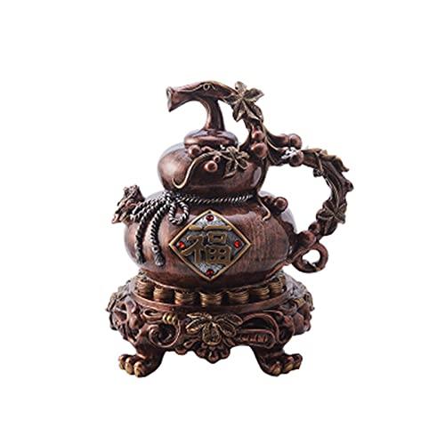 TU BANG SHOU Feng Shui Münzen Gourd Piggy Bank Home Office Tisch Top Dekor Sammlung Wohlstand Glück Feng Shui Statue Harz Handwerk Neujahr Dekoration, c feng Shui deko (Color : C)