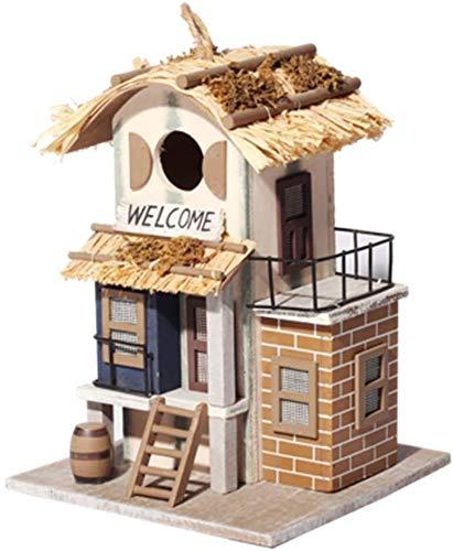 Oiseaux Nids for Cages Anglais Courtyard Garden Cottages Bird House Verticale extérieure Mangeoire d'oiseaux for Les Petites Oiseaux Cabine Birdhouse Creative Décoration extérieure Bird House