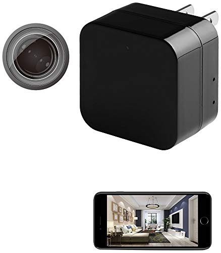 Hidden Spy Camera Charger with Remote Viewing, Night Vision Wireless 1080P Nanny Camera Video Recorder Motion Activated, Support iOS/Android