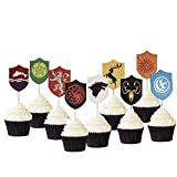 Cupcake Topper for Game of Thrones GOT Cake Picks Decoration for Baby Shower and Birthday Party Favors, Set of 27