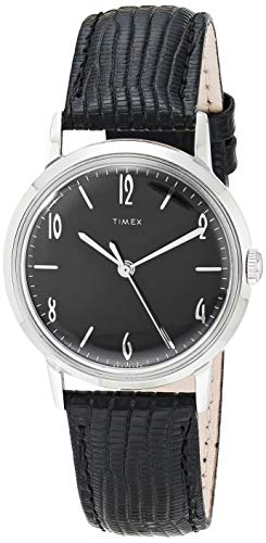 Timex 34 mm Marlin Mechanical Silver/Black/Black One Size