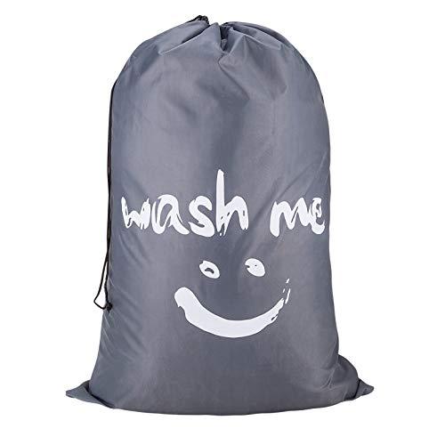 Eono Amazon Brand Bolsas Cestos para la Colada, Gran Servicio de lavandería, Plegable Bolsa de Lavado de Ropa Bin (Gris)