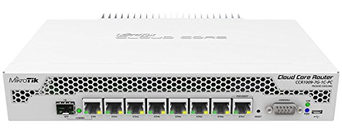 MikroTik CCR1009-7G-1C-PC Cloud Core Router, CCR1009-7G-1C-PC (Cloud Core Router w. 7x1000-T, 1x Combo, 9 cores x 1GHz CPU, 1GB RAM, RouterOS L6)