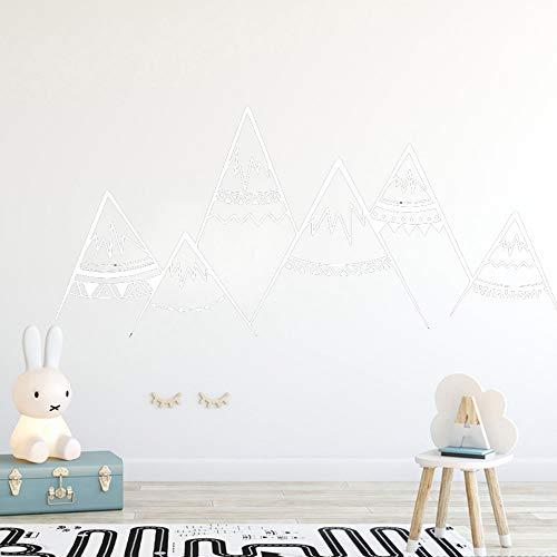 yiyiyaya Nordic Style Mountain wallstickers Abnehmbare Wanddekoration Für Jungen Kinder Babys Zimmerdekoration Wandtattoos Sricker Murals weiß30 cm X 60 cm