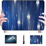 Mac Book Air Case Set 2 of Blue Abstract S Digital Illustr Plastic Hard Shell Compatible Mac Macbook Pro 15inch Accesorios de protección de Caja para Macbook con Alfombrilla de ratón