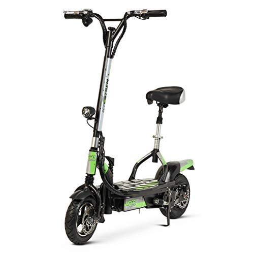 TECNOZONE Scooter, Patinete eléctrico Urbano rápido y Efectivo con diseño Moderno, Verde