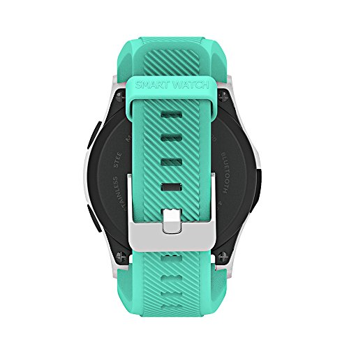Kariwell G8 - Reloj Inteligente para Hombre y Mujer, con Pantalla de parámetros de Salud, Monitor de frecuencia cardíaca, cámara remota, Resistente al Agua IP67, Pulsera Deportiva, Verde