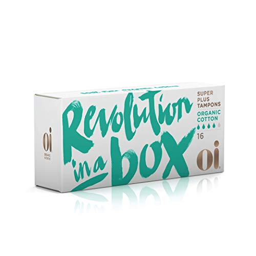 Oi Certified Organic Cotton Tampons | Box of 16 Super Plus Tampons | Non-Applicator