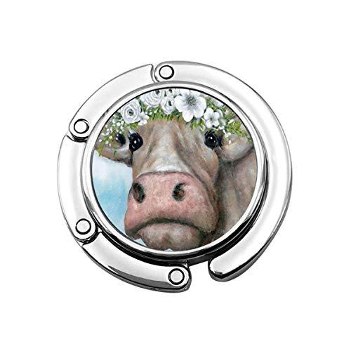 Geldbörse Haken für Tisch, Milchvieh Kuh Tragbare Tasche Kleiderbügel Handtaschen Clips für Frauen Halter Lagerung Klapp Schreibtisch Organizer Lagerung