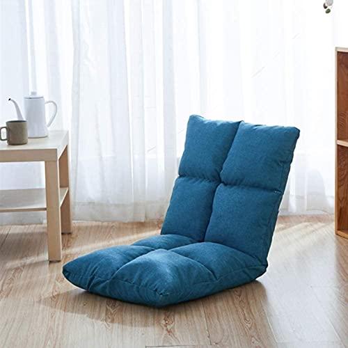JYHS - Cuscino per sedia pieghevole e traspirante, con 6 posizioni reclinabili, 96 x 35 cm, colore: blu