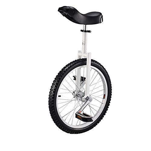 18インチ一輪車 一輪車 組み立て式 競技用 JL-10123 (白い, 20インチ)