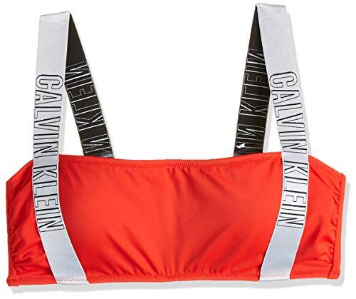Calvin Klein Strap Bandeau-RP Reggiseno Bikini, Rosso (Fiery Red XA7), 44 (Taglia Produttore: Medium) Donna