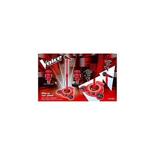 Lansay - 17559 - Accessoire Pour Instrument De Musique - Micro Sur Pied The Voice - Rouge (noir)