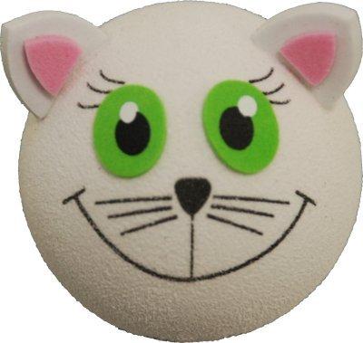 White Cat Car Aerial Ball Antenna Topper - ALLEEN EEN P&P lading per 'AERIALBALLS' bestelling! Bespaar geld door 2 of meer van onze vele ontwerpen te kopen.