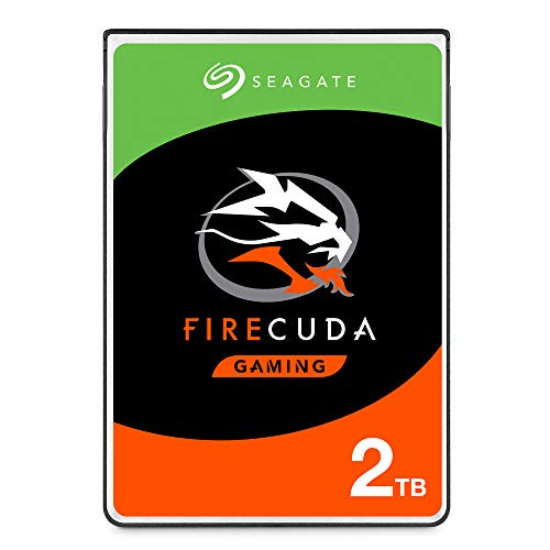 Seagate ST2000LX001 - 2 TB FireCuda Internal SSHD Hard Drive for PC/PS4, color Plateado