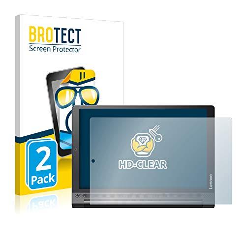 BROTECT Schutzfolie kompatibel mit Lenovo Yoga Tab 3 Plus (2 Stück) klare Bildschirmschutz-Folie