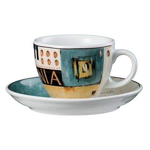 Seltmann Weiden VIP. Cappuccinotasse mit Untertasse, Kaffeetasse, Kenia, Porzellan, Spülmaschinenfest, 220 ml, 1648090