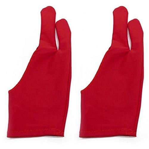 1 par de guantes de dos dedos antiincrustantes para dibujo gráfico y tableta, guantes de invierno para pantallas de invierno para mantener el calor para mujeres y hombres