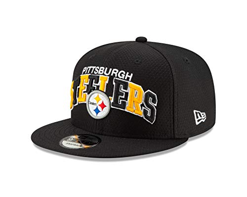 New Era Pittsburgh Steelers 9fifty Snapback Cap NFL 2019 Sideline Home 1990 Black - One-Size