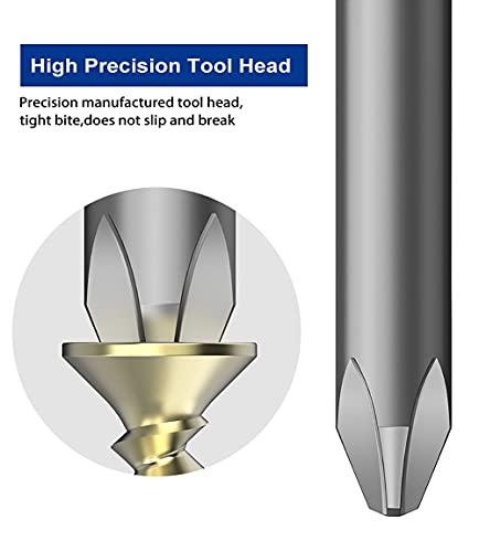 10pcs Phillips Bit Set 150mm/6 inch Long Quick Release Shank Magnetic Professional Screwdriver Bit set Perfect for Production Workshop