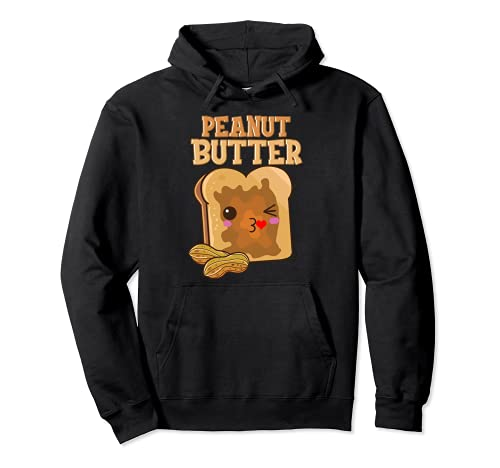Couples Peanut Butter and Jelly His and Her Designdesigns Pullover Hoodie